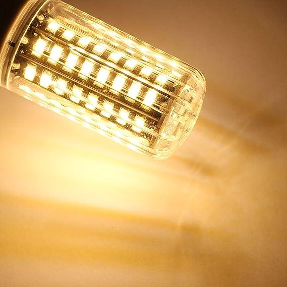 eDealMax 72x5736SMD 85V ~ 265V 7W E14 LED bulbo del maíz de luz de lámpara de ahorro de energía blanco cálido - - Amazon.com