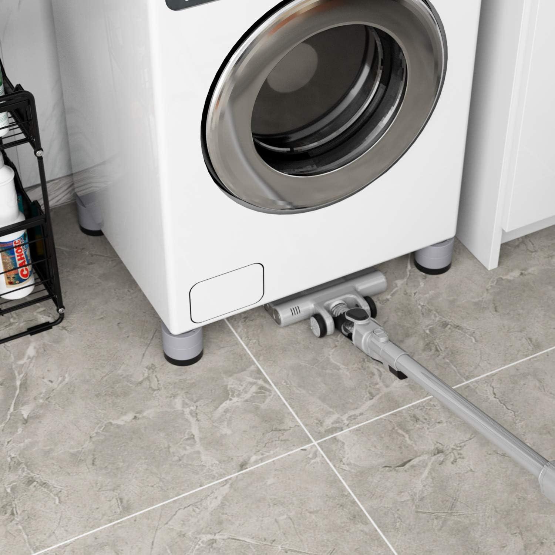 Pies para lavadora Nevera reducir ruido y vibraci/ón Seisso Patas de muebles para electrodom/ésticos 4pcs Elevador de muebles Altura ajustable Antideslizante