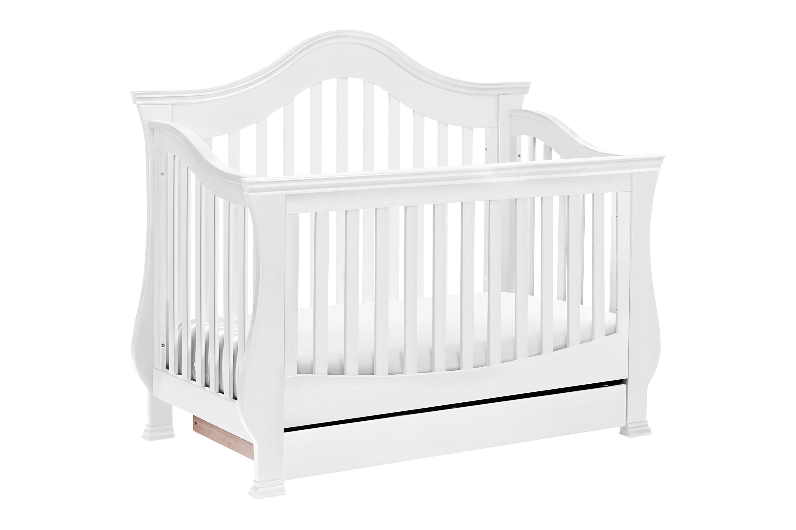 Million Dollar Baby Classic Ashbury 4-in-1 Convertible Crib with Toddler Bed Conversion Kit, White