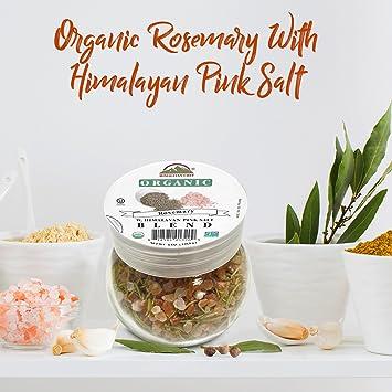 Mezcla de chef de romero con rosa del Himalaya Sal orgánicos ...
