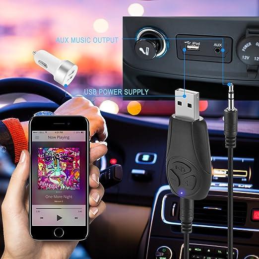 Ricevitore Bluetooth per auto//Home stereo portatile alimentazione USB vivavoce Bluetooth Audio ricevitore /& wireless Bluetooth kit lettore MP3/read micro TF Card per musica Sound System