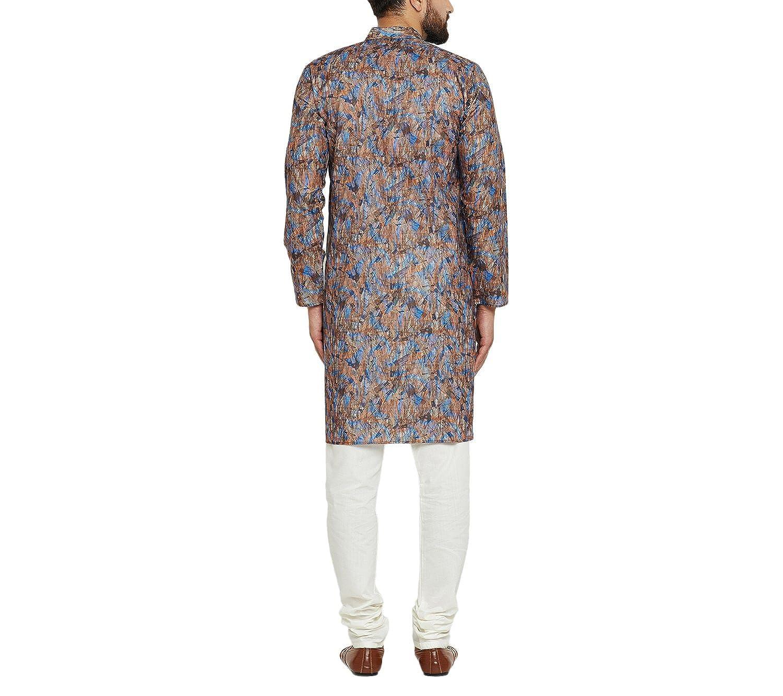 Indian-Traditional-Kurta-Pajama-Set-Shirt-Printed-Men-Kurta-Ethnic-Wear-XS-5XL thumbnail 9