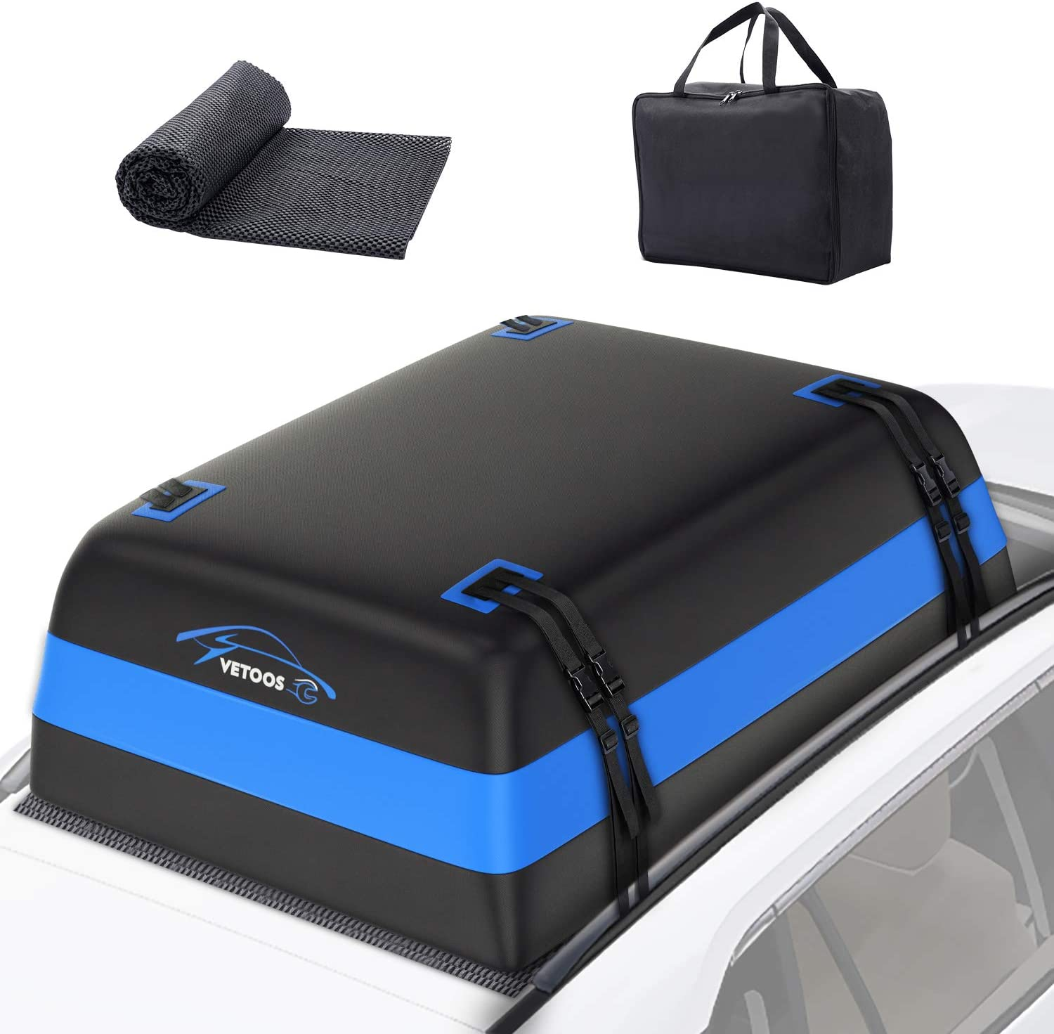 Vetoos 21 Cubic Feet Car Rooftop Cargo Carrier Bag