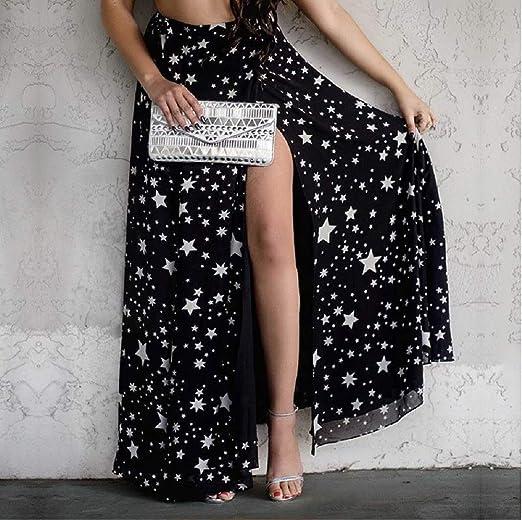 b54a1d7e3 Giovanna GIO203 Falda Larga Negra Elegante Noche Estrella Tacto Muy ...