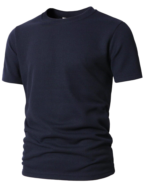 【H2H】 メンズ カジュアル ファッション ワッフル ヘンリー Tシャツ ポケット付き CMTTS0147 B07C23X79K Medium|Kmtts0565-navy Kmtts0565-navy Medium