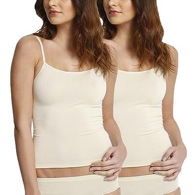 2 Pack Camiseta interior invisible para mujer, microfibra: Ropa y accesorios