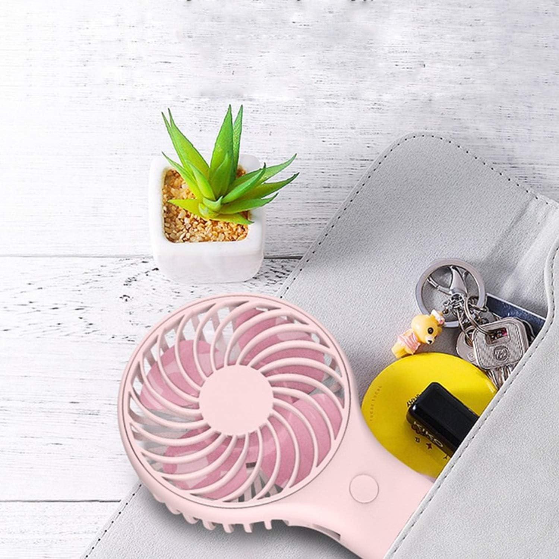 Color : White XIAOF-FEN USB Dual Battery Fan Mini Handheld Portable USB Fan Lanyard Outdoor Personal Desktop Electric Fan USB Fan
