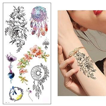 TATTOOS TL183 - Colgante de tatuaje de flores, diseño de flores ...