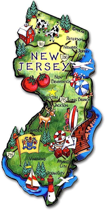 New Jersey The Garden State Montage Fridge Magnet