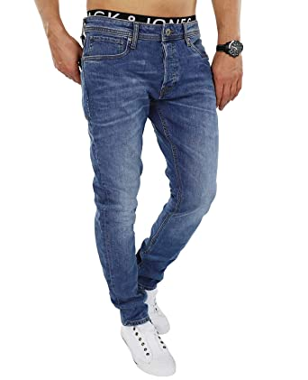 Jack & Jones Hombre Del ajustado de Tim originales 085 Jeans, Azul