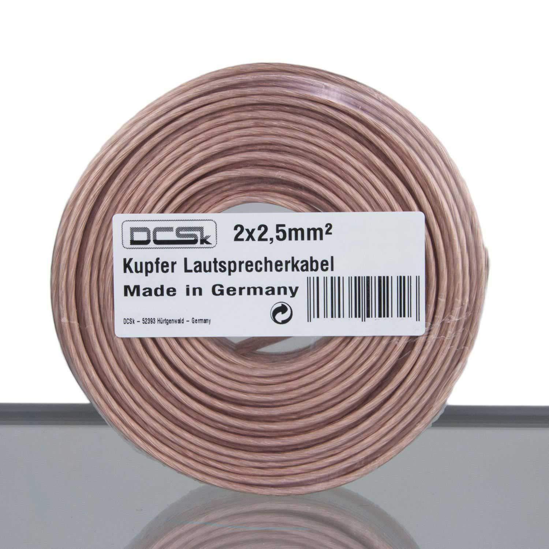 Cobre Puro DCSk Blanco Cable Altavoces 2 x 2,5 mm/² 50m