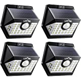 LITOM Upgraded 30 LED Solar Lights Outdoor, Wireless IP65 Waterproof Solar Motion Sensor Lights with 3 Lighting Modes, 270° Wide Angle and Easy to Install for Front Door, Yard, Garage and Deck-4 Pack