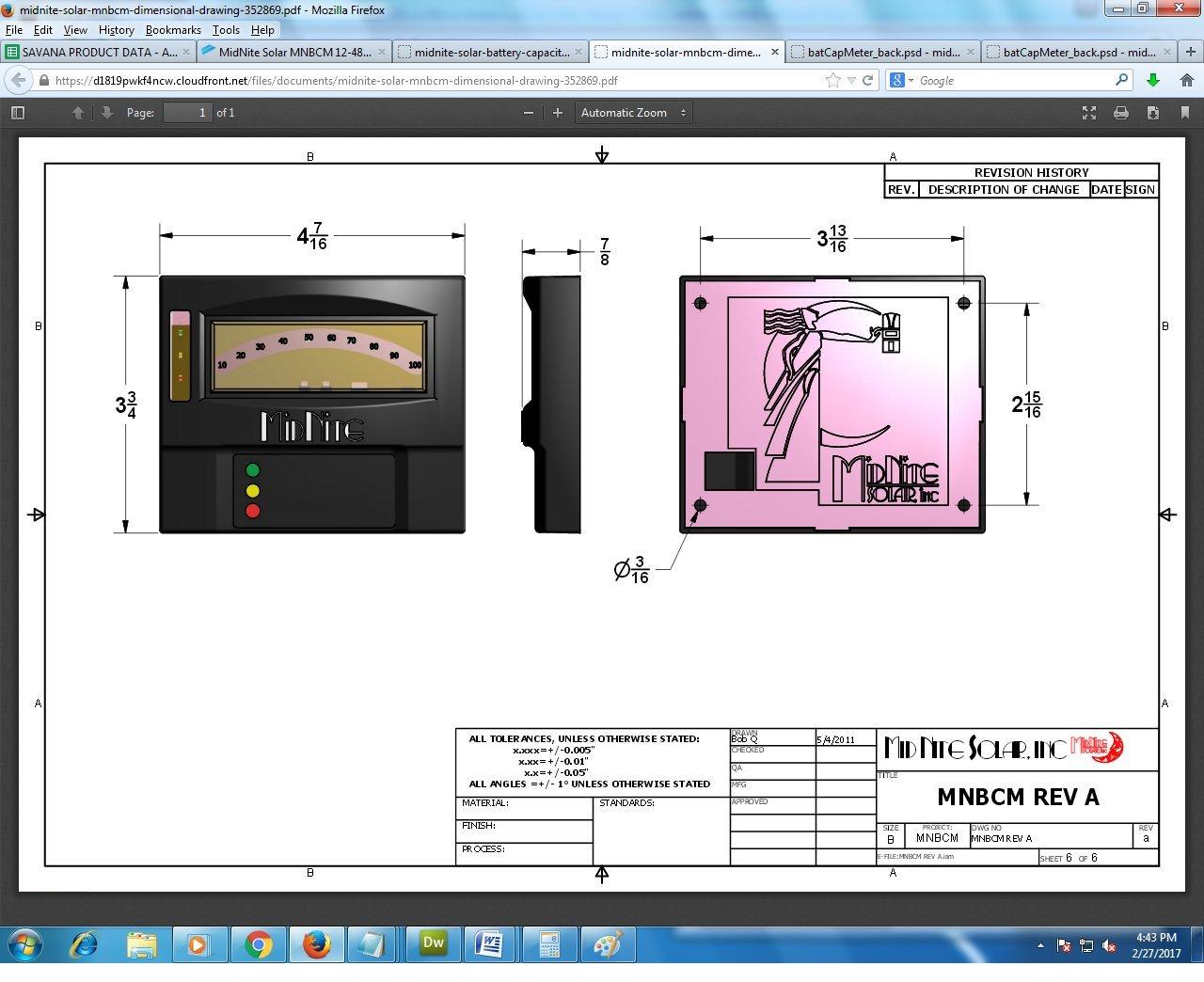 Battery Monitor MNBCM Midnite Solar