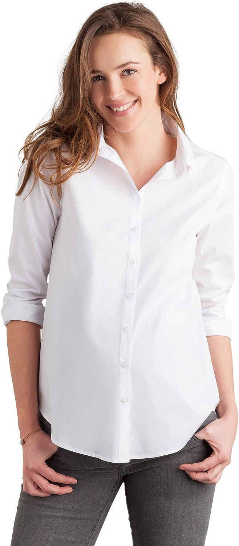 Vertbaudet - Camisa blanca elástica para embarazo blanco 44 ...