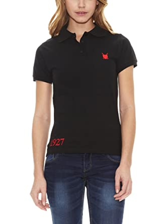 POLO CLUB Captain Horse Academy Polo Custom Fit Negro S: Amazon.es ...