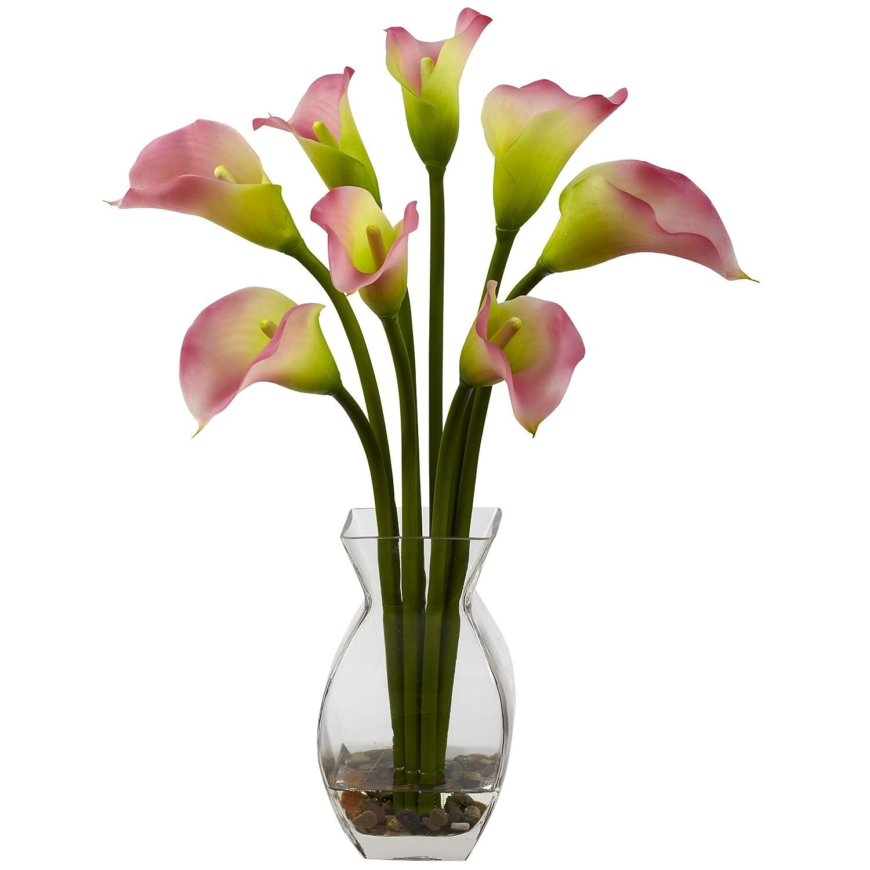 Nearly Natural 1296-CR Classic Calla Lily Arrangement, Cream