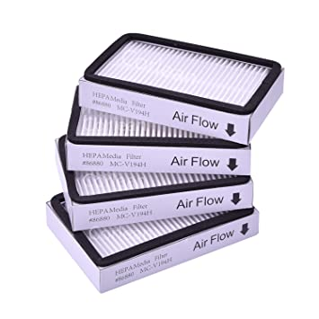 Amazon.com: Paquete de 4 filtros HEPA para aspiradora ...