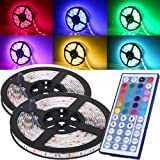Amazon Price History for:Magic BEAM Waterproof LED Strip Lighting 10M 32.8 Ft 5050 RGB 300 LEDs Flexible Color Changing Full Kit 44 Keys IR Remote Controller + Control Box + Power Supply Indoor Outdoor Landscape Decoration