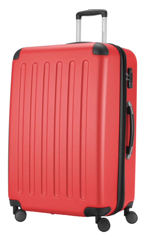 119 Liter 75 cm Spree Hartschalen-Koffer-XL Koffer Trolley Rollkoffer Reisekoffer Erweiterbar TSA 4 Rollen Hauptstadtkoffer Apfelgr/ün +Badehandtuch