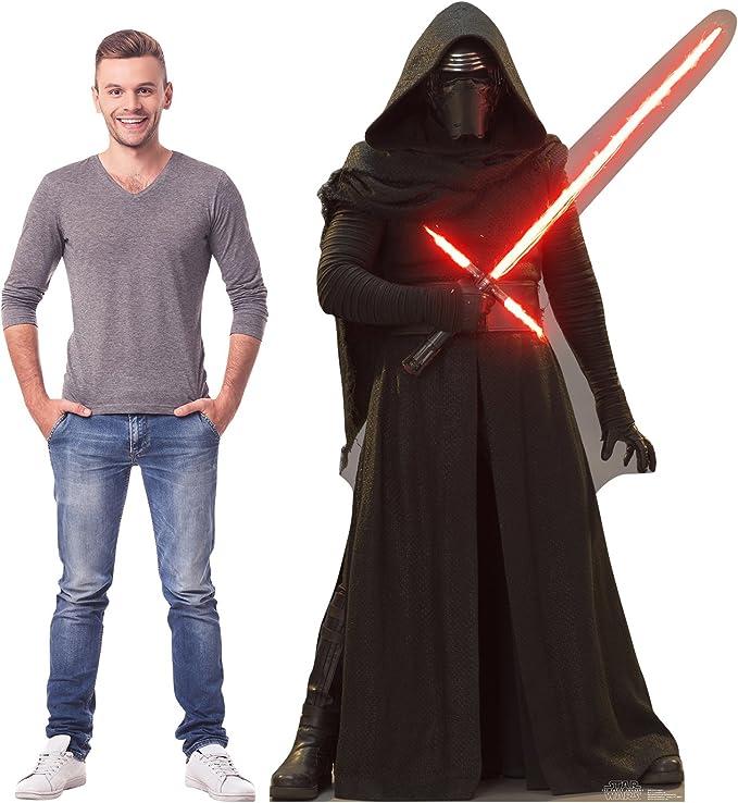 Amazon Com Cardboard People Kylo Ren Life Size Cardboard Cutout Standup Star Wars Episode Vii The Force Awakens Home Kitchen