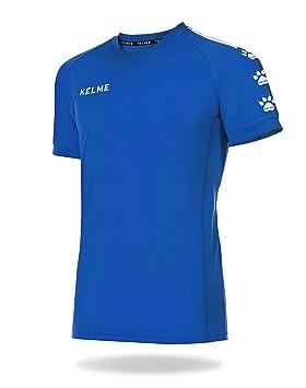KELME Lince Camiseta Fútbol, Niños, Royal/Blanco, XS