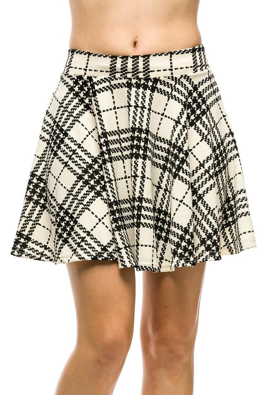 1960s Style Skirts Kathy Womens Junior Textured Stretchy Skater Skirt $17.99 AT vintagedancer.com