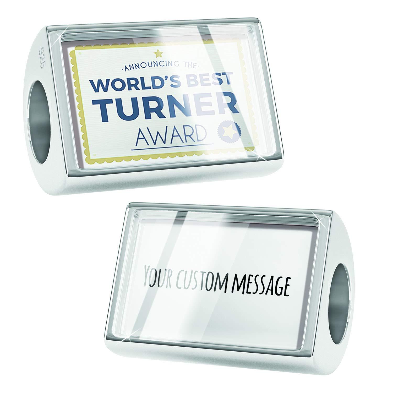 NEONBLOND Custom Charm Worlds Best Turner Certificate Award 925 Sterling Silver Bead