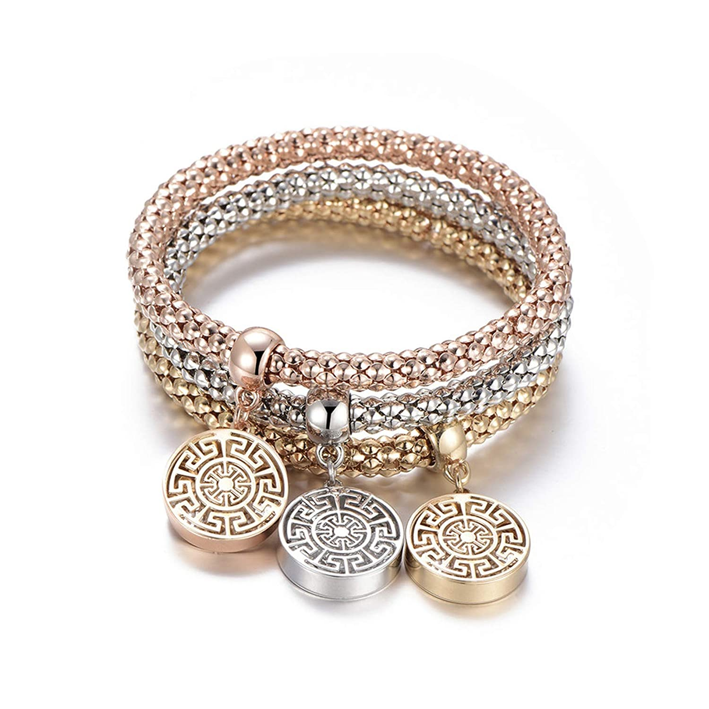 Bracelet Popcorn Owl Heart Anchor Musical Note Charm Bracelets for Women Pulseria Jewelry