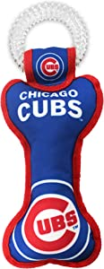 Pets First MLB Chicago Cubs Best Rubber Toothbrush Sports Dog Ring Toy, Blue, 11 x 6
