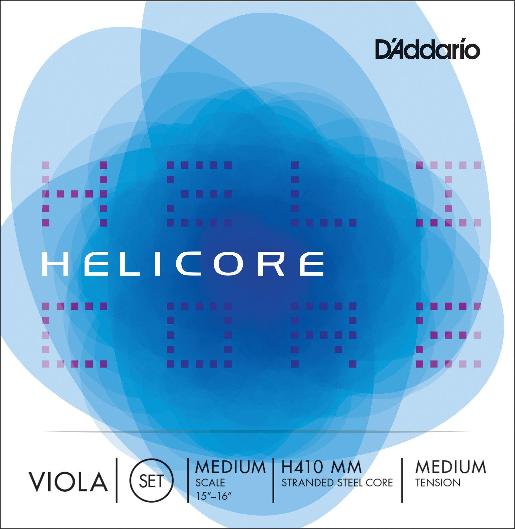 D'Addario Helicore Viola String Set, Medium Scale, Medium Tension