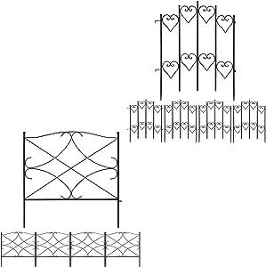 Amagabeli Decorative Garden Fence 27inx9ft Bundle 24in x 10ft