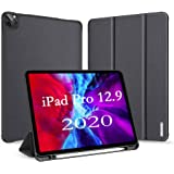 """A-BEAUTY Smart Case for iPad Pro 12.9"""" (4th Generation) 2020 with [Pencil Holder] Lightweight Stand Cover with Auto…"""
