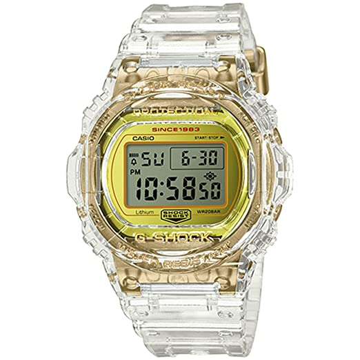 G-Shock By Casio Mens Limited Edition DW5735E-7 Watch Clear Gold
