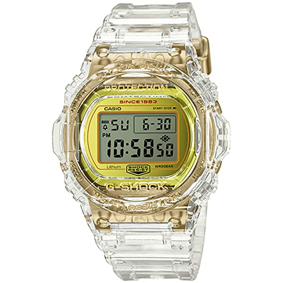 G-Shock By Casio Mens Limited Edition DW5735E-7 Watch Clear Gold: Amazon.es: Relojes