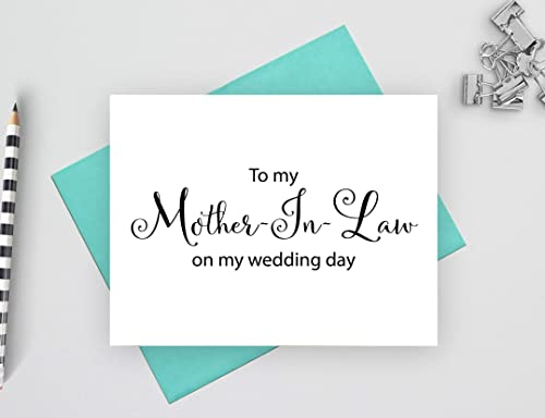 To My Mother-In-Law On My Wedding Day Printable Notecard