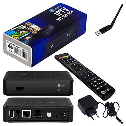 180 opinioni per MAG 250 Original HB-DIGITAL IPTV SET TOP BOX Multimedia Player Internet TV IP