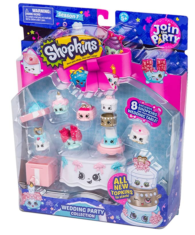 Amazon.es: Shopkins S7 Join the Party Theme Pack: Wedding Party Collection: Juguetes y juegos