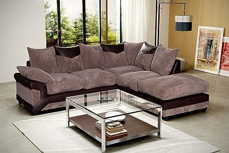 Divano Ad Angolo Grande : Prestige divano ad angolo colore: marrone e caffè nero e grigio
