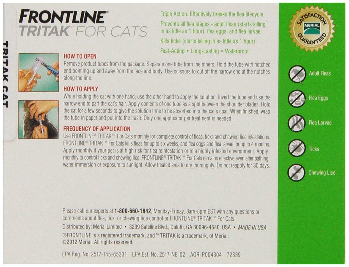 Amazon.com: Frontline Tritak control de pulgas y plagas para gatos: Beauty