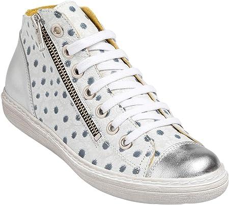Chacal Shoes - Botines de Mujer de Piel - máximo Confort - Botín Casual de Cuero - Cordones algodón y Cremallera - Fácil Calzado - Botines de Mujer - EU 36 a EU 41