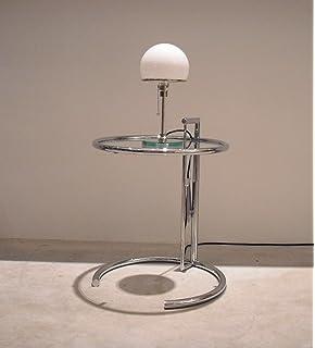 Set Aus ClassiCon Adjustable Table E1027, Eileen Gray Und Tecnolumen  Wagenfeld WG24, Tischleuchte DesignKlassiker