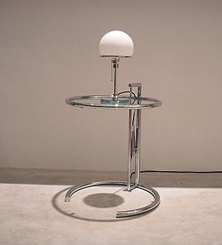 set aus classicon adjustable table e1027 eileen gray und tecnolumen wagenfeld wg24 tischleuchte designklassiker