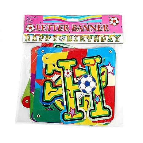AEX 2m Feliz Cumpleaños Fútbol Multicolor Bunting Party ...