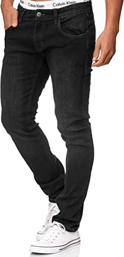 Indicode Homme Texas Jean en M/élange De Coton avec Touche De Stretch Jean pour Homme Denim Stretch Jean Pantalon pour Homme Regular Fit Men Washed Out Jean Stretch pour Homme