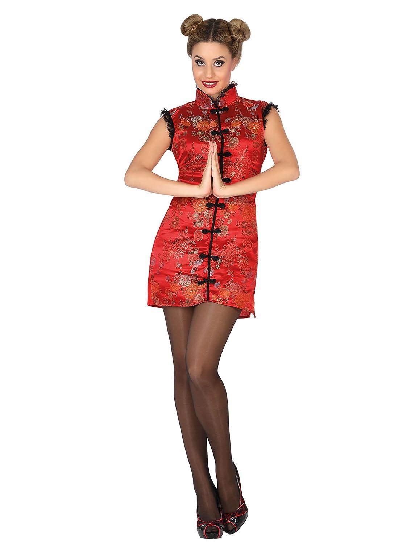 Atosa - 26522 - Disfraz China- talla M-L - Color Rojo para Mujer Adulto