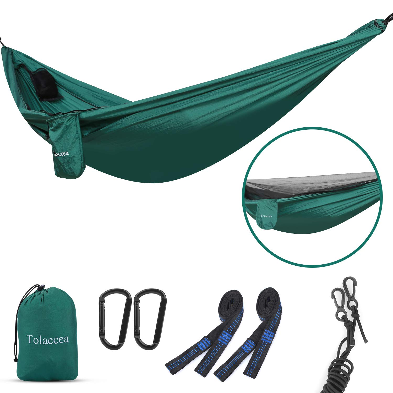 Camping Hammock with Self-Supporting Mosquito Net