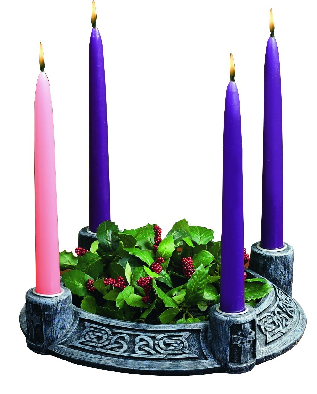 Celtic Advent Wreath - Stone Look Abbey Press 70792K