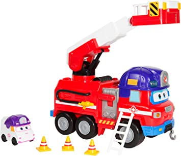 Super Wings Camion Pompier Rescue Riders 1 Figurine Zoey Camion Pompier Et Figurine Jouet Du