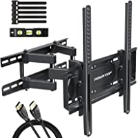 MOUNTUP TV Wall Mounts - Full Motion TV Wall Mount for 26-55 Inch Flat Screens and Curved TVs up to 88 LBS, Wall Mount…