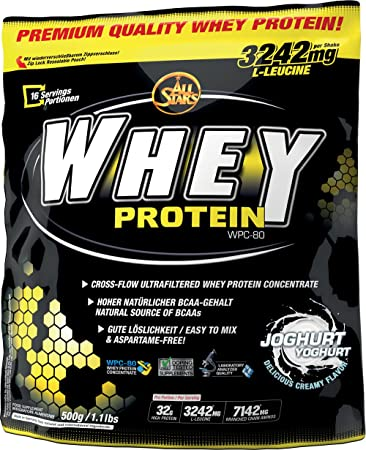 All Stars Whey Protein, Joghurt, 1er Pack (1 x 500 g)  Amazon.de ... a90294f868
